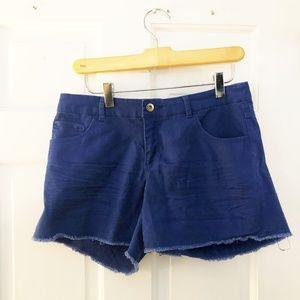 H&M Blue Cut Off Shorts